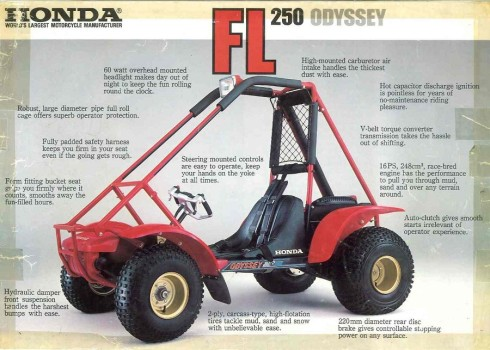 Honda Odyssey FL250: ATV Overview (1976-1984), Parts, Specs, Features